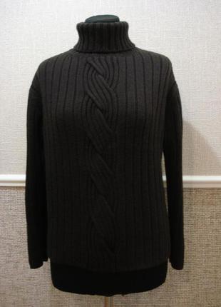 Шерстяной свитер вязаный свитер свитер с косами размера 14/16