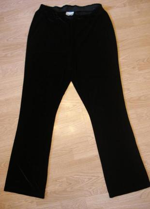Классические велюровые брюки большого размера, подойдут для бе...