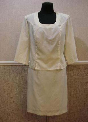Строгая классическая юбка юбка - карандаш блуза с рукавом 3/4 ...