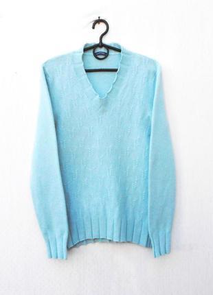 Осенний зимний теплый кашемировый свитер с длинным рукавом 🌿