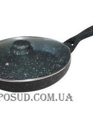 Качество| Гранитная сковорода с крышкой| Ø24см и 28см