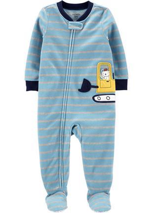 Слип со стопами, пижама для мальчика 2т 3т 4т  carters микрофлис