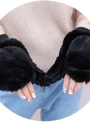 7-61 оригинальные крутые варежки митенки рукавички мітенки