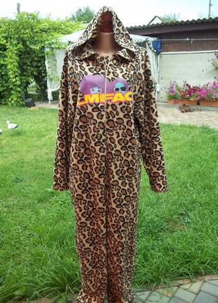 ( 48 / 50  р) домашний флисовый комбинезон пижама кигуруми чел...