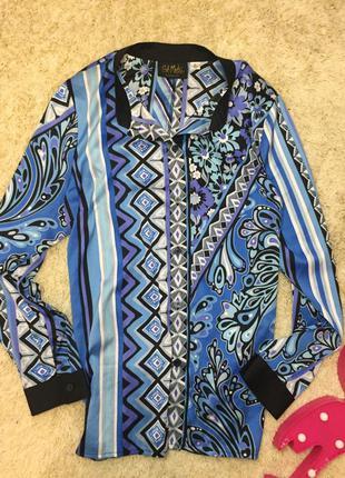 Яркая блуза рубашка блузка