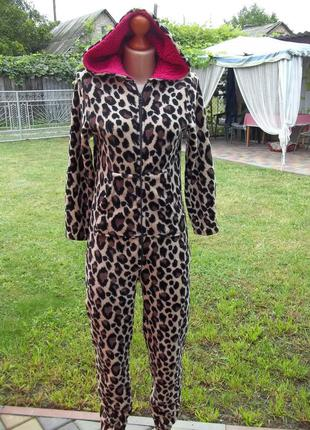 ( 40 / 42 р) флисовый толстый комбинезон пижама кигуруми