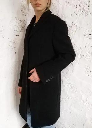 Демисезонное двубортное шерстяное пальто MORE&MORE