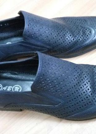 Мужские туфли лето осень кожаные Турция 34 размер