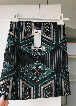 New шикарная юбка расшитая бисером