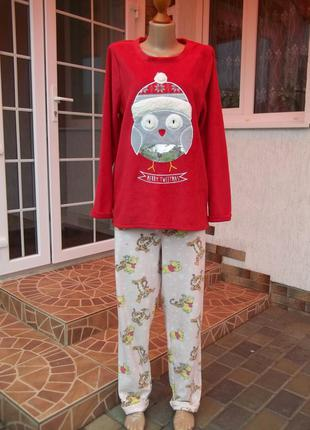 (48 / 50 р )флисовый комбинезон костюм пижама