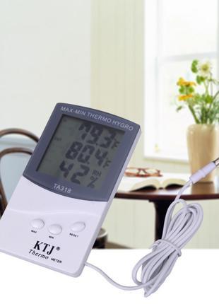 Термометр TA 318 + выносной датчик температуры, Цифровой термо...