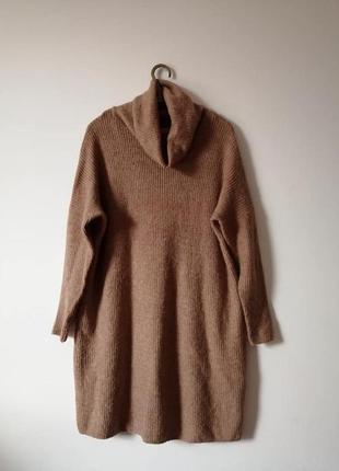 Свитер туника, вязаное платье