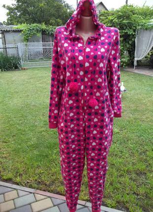 ( 46 / 48 р) флисовый комбинезон пижама кигуруми