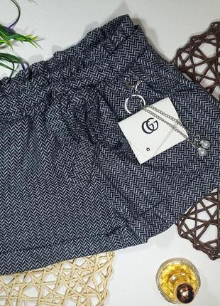 Модные шортики на резинке с пояском