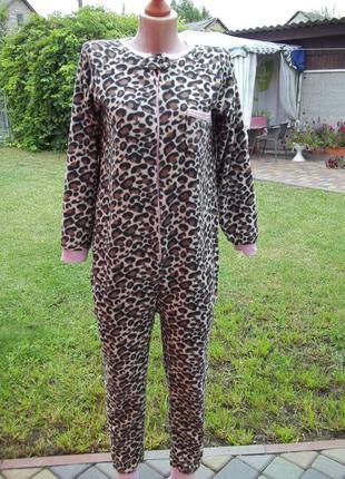 ( 44 р ) флисовый комбинезон пижама кигуруми женский