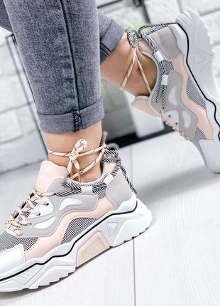 ❤ женские белые пудровые кроссовки ❤