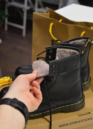 Чудесные женские зимние кожаные ботинки/ сапоги dr. martens 14...