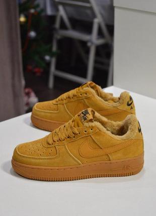 Распродажа! шикарные зимние женские кроссовки nike air force f...