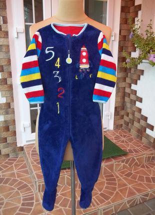 (2-3 года) флисовый толстый комбинезон пижама кигуруми боди