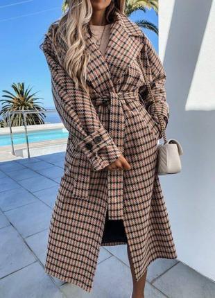 Женское пальто шерстяной кашемир SKL11