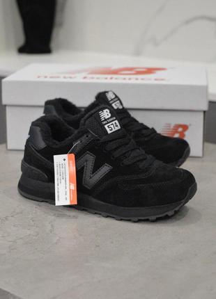 Распродажа! шикарные зимние женские кроссовки new balance 574 ...