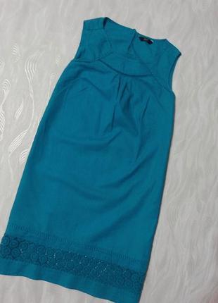 Платье из натуральной ткани с кружевом f&f, р.42