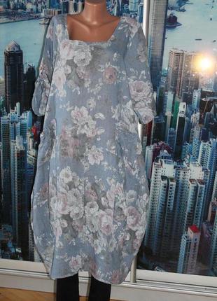 Плаття бохо 100% лен
