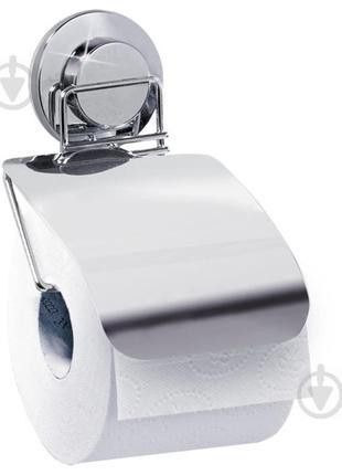 Держатель для туалетной бумаги Tatkraft настенный с крышкой (1...
