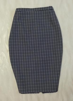 Стильная юбка карандаш в мелкую клетку миди длины f&f (румыния...