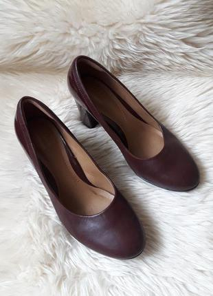 Кожаные туфли clarks 36.5 размер