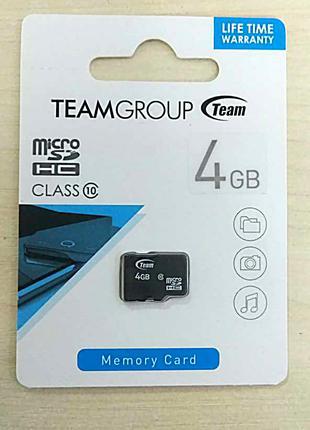 Карта памяти  MicroSD Class 10 4gb