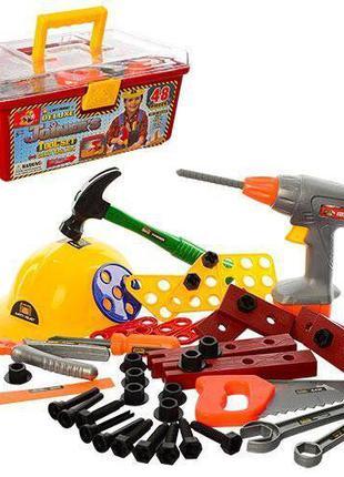 Игровой набор инструментов для мальчика в чемодане 2056 с дрел...