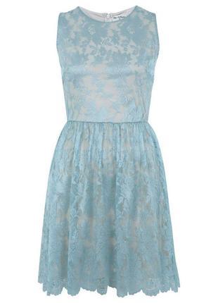 Кружевное платье мятного цвета miss selfridge,р.8