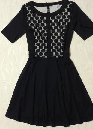 Черное платье с ажурными вставками per una, р.16