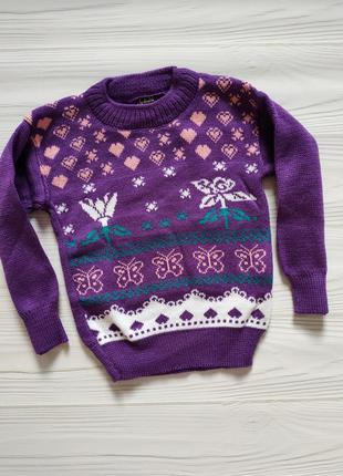 Теплый свитер на девочку