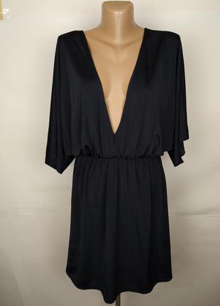 Платье синие новое трендовое эластичное uk 10/38/s