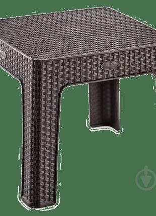 Столик для кофе под ротанг Irak Plastik 45x45 Темно-коричневый...