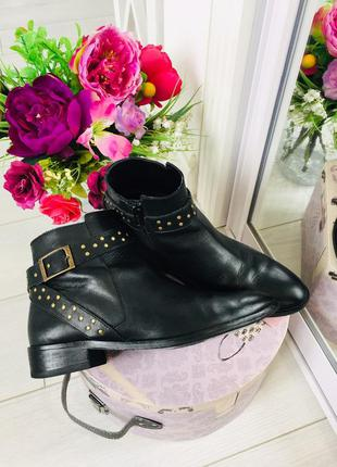 Minelli кожаные ботинки полу сапоги натуральная кожа