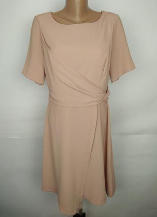 Платье на запах нежное красивое креп new look uk 12/40/m