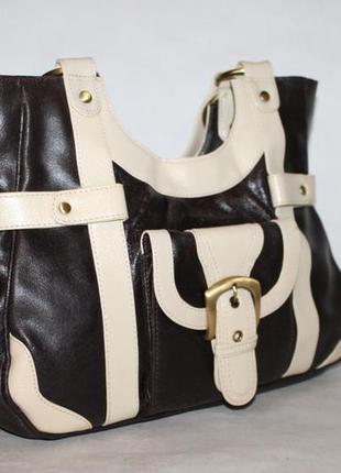 Большая кожаная сумка от tommy&kate 100% натуральная кожа