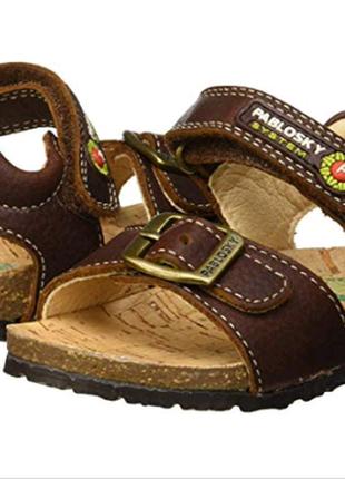 Pablosky кожаные босоножки на корковой подошве. размер 35