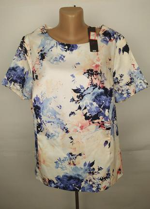 Блуза новая приталенная хлопковая красивенная большого размера...