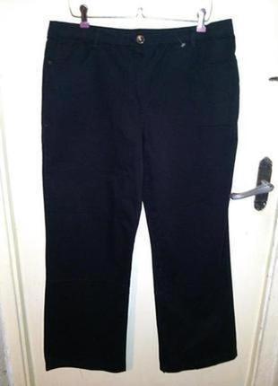 Стрейч,натурал,высокая посадка,джинсы-брюки,большого размера,4...
