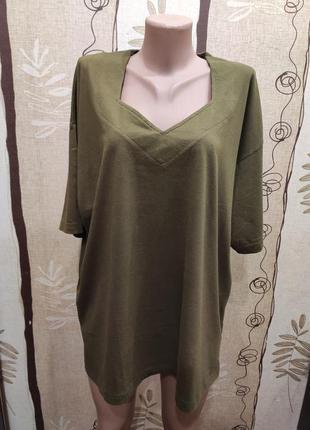 Best basics футболка цвета хаки, большой размер 22-24 р.
