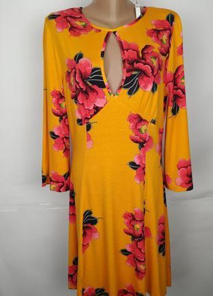 Платье новое трикотажное стильное в цветы asos uk 16/44/xl