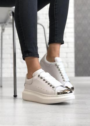 Шикарные кроссовки alexander mcqueen кожа