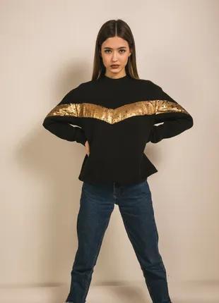 Модный свитшот свитер кофта с пайетками