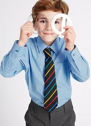Школьные рубашки marks&spenser. размер 7-8 и 8-9 лет.