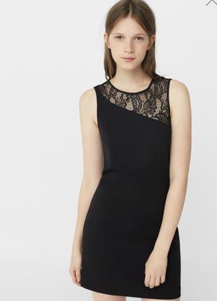 Маленькое черное   платье mango.
