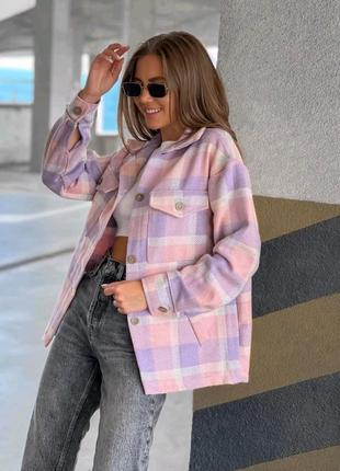 Рубашка плотная пальтовая шерсть